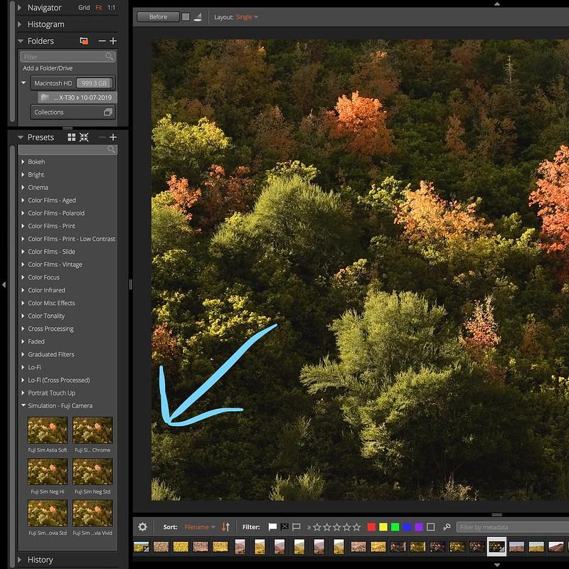 Fujifilm Film Simulation Exposure X5