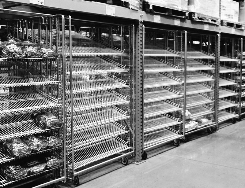 Costco Bread Shelves Empty Coronavirus COVID-19